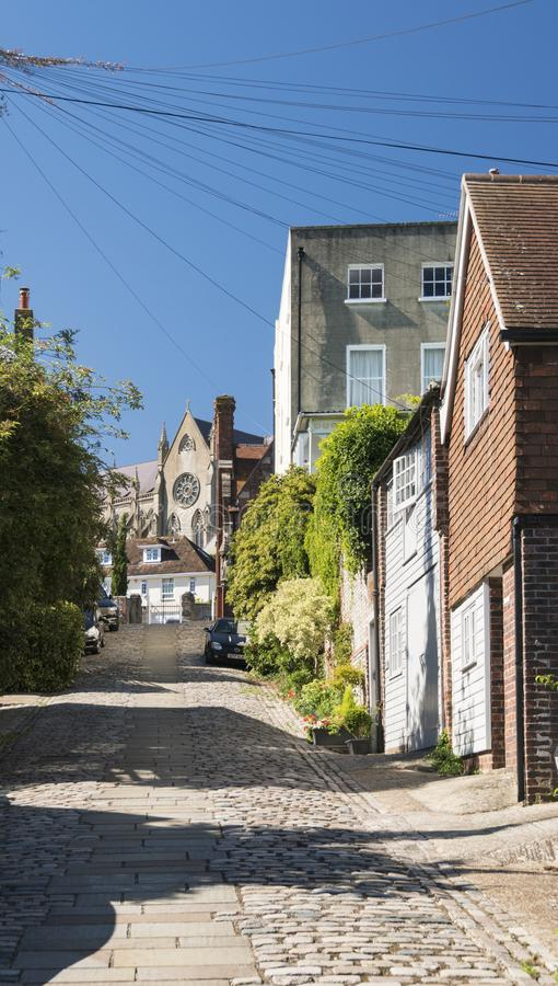 Rua cobbled velha foto de stock royalty free