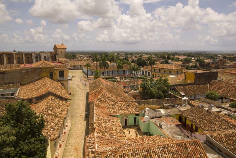 Rua colonial típica, Trinidad, Cuba fotos de stock royalty free