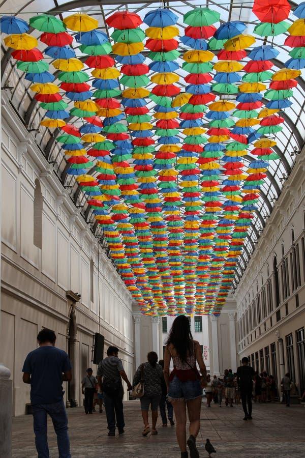 Rua colorida em Sayulita Nayarit fotos de stock