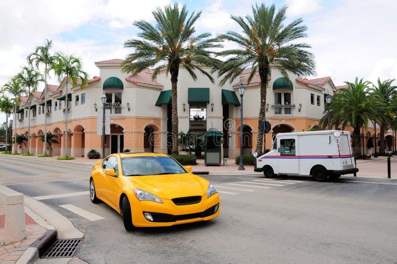 Rua com negócio & lojas, FL fotografia de stock royalty free