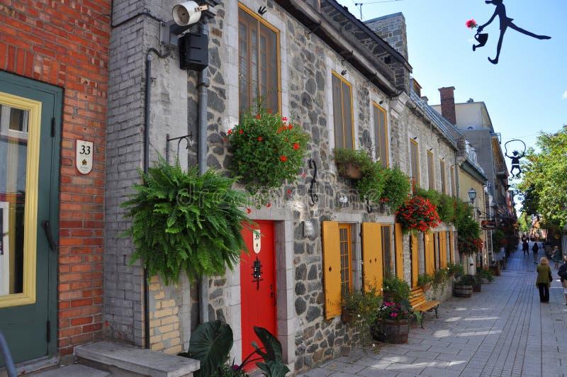 Rua du Petit-Champlain, Cidade de Quebec, Canadá imagem de stock royalty free