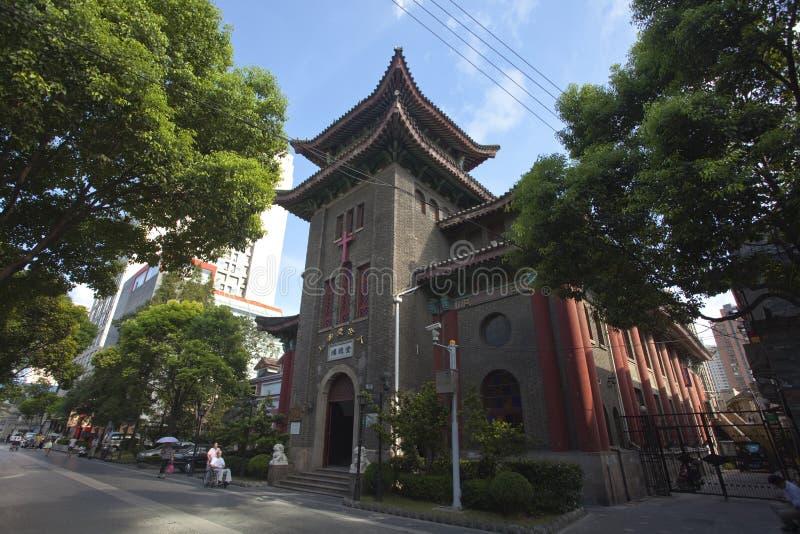 Rua cultural das celebridades da estrada de Shanghai Duolun foto de stock