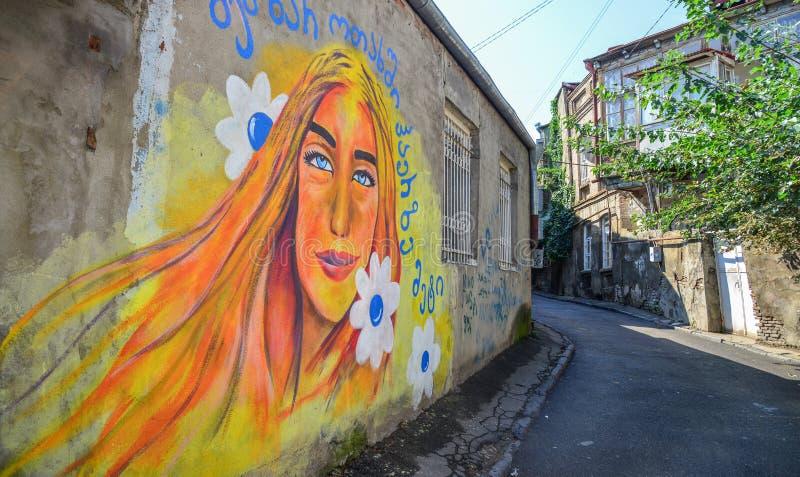 Rua da arte da cidade velha foto de stock royalty free