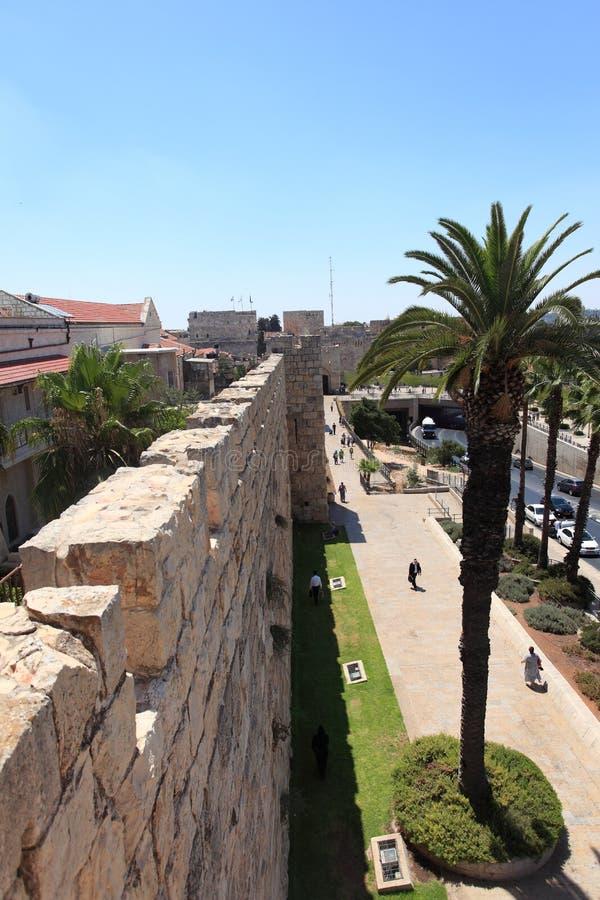 Rua da caminhada dos muralhas, Israel de Jaffa fotos de stock