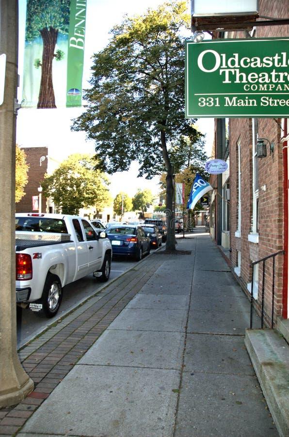 Rua da cidade de Bennington vermont EUA fotos de stock