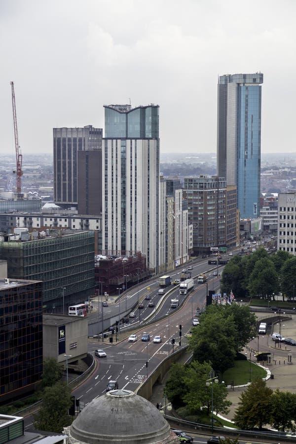 Rua da cidade de Birmingham, Reino Unido foto de stock royalty free