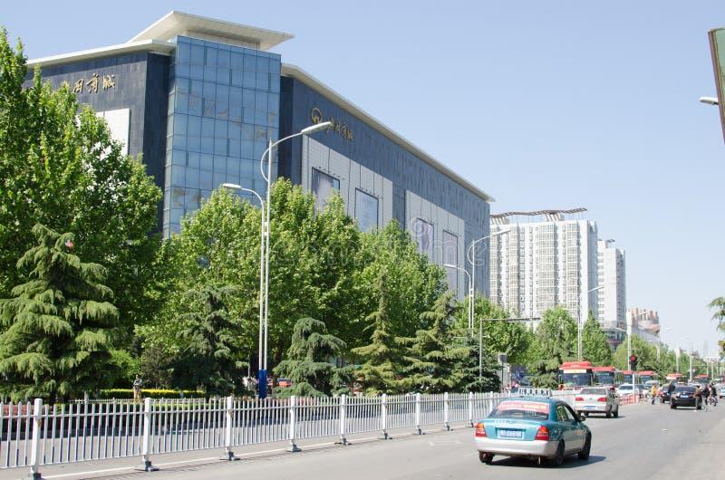 Rua da cidade de China Xingtai foto de stock