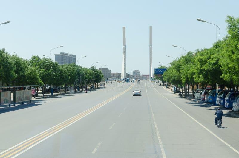 Rua da cidade de China Xingtai imagem de stock royalty free