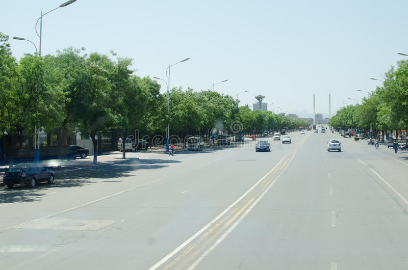 Rua da cidade de China Xingtai fotos de stock