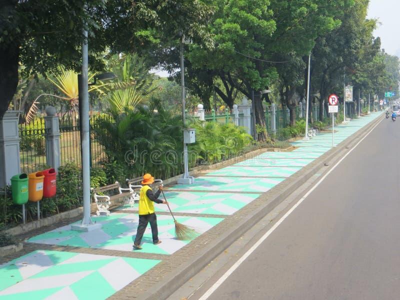 Rua da cidade de Jakarta foto de stock