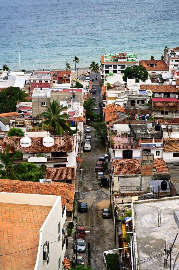 Rua da cidade em Puerto Vallarta, México imagem de stock royalty free