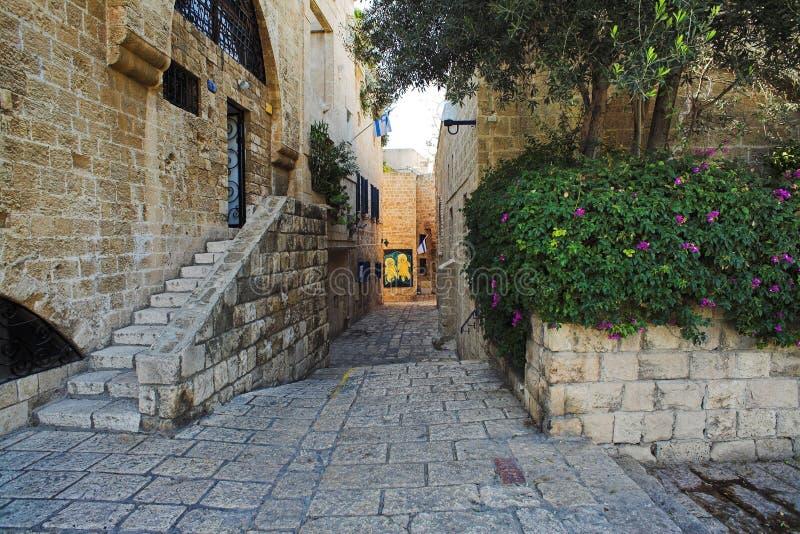Rua da cidade velha de Jaffa fotografia de stock royalty free