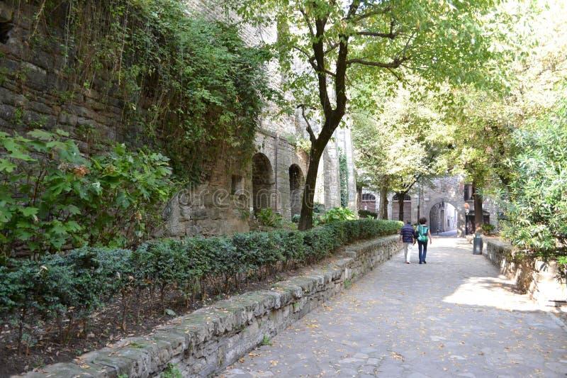 Rua da cidade velha em Bergamo imagem de stock royalty free
