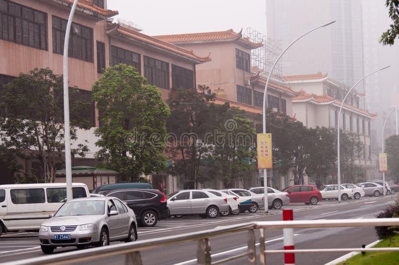 Rua da cidade, Zhongshan China fotografia de stock royalty free