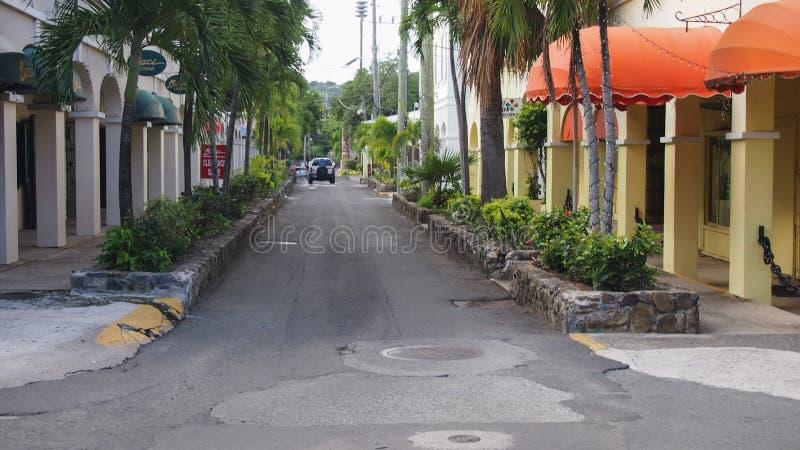 Rua da costa fotografia de stock