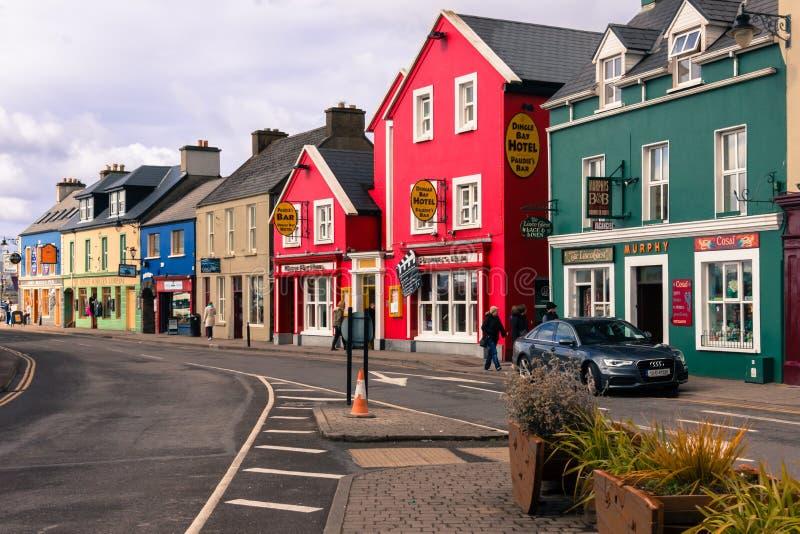 Rua da costa dingle ireland imagens de stock