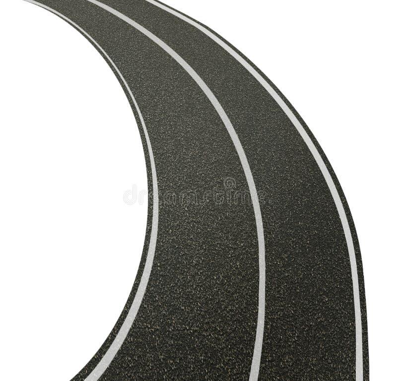 Rua da estrada com linhas ilustração do vetor