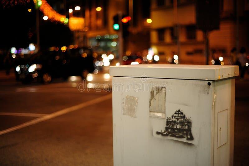 Rua da noite de Macau em Macau imagem de stock royalty free