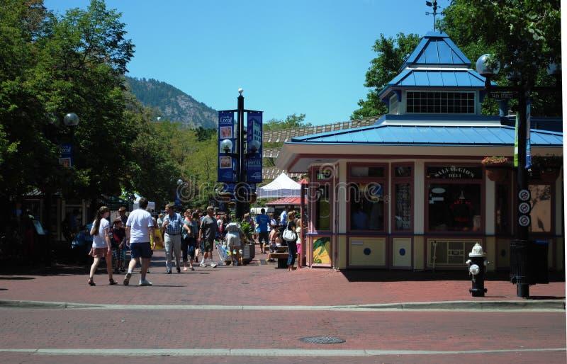 Rua da pérola - Boulder, Colorado foto de stock royalty free