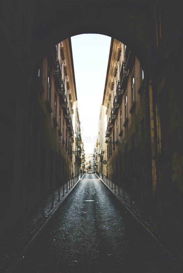 Rua DA Rosa - Lisboa imagen de archivo