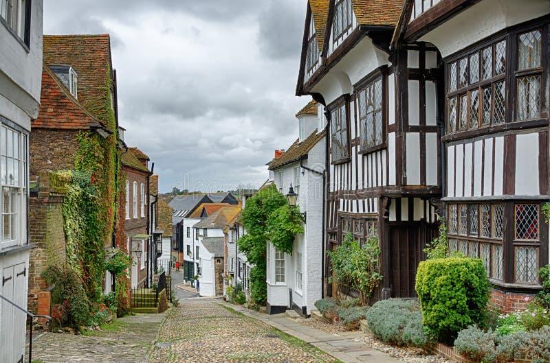 Rua da sereia em Rye fotos de stock royalty free