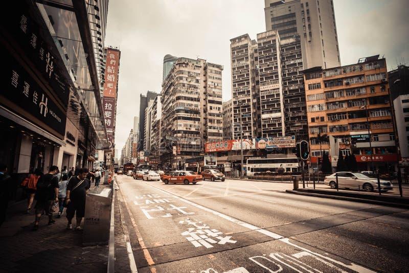 Rua da skyline de Hong Kong foto de stock royalty free