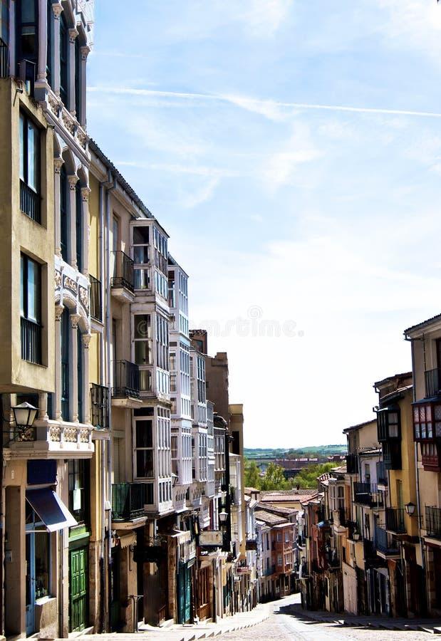 Rua de Balboraz em Zamora imagens de stock