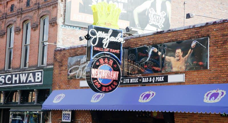 Rua de Beale do restaurante de assado do ` s de Jerry Lawler imagem de stock royalty free