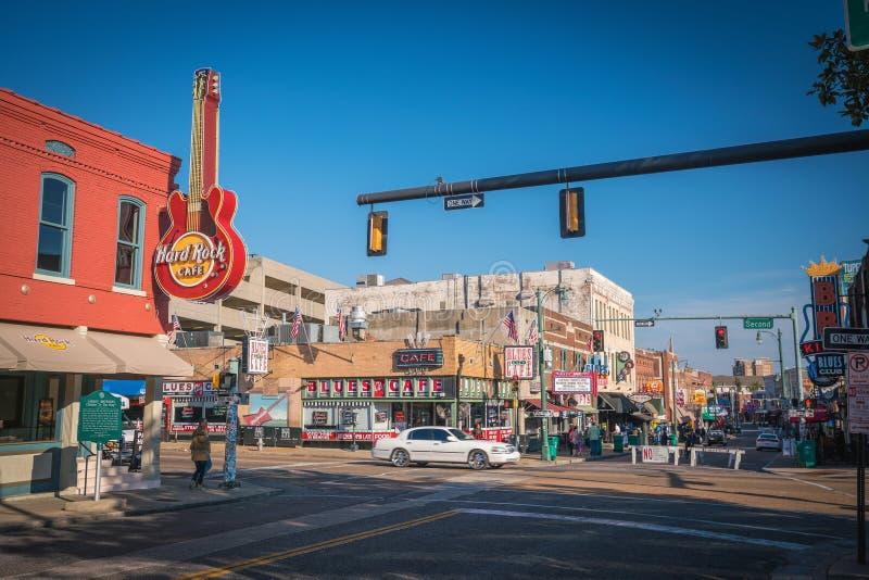 Rua de Beale em Memphis fotografia de stock