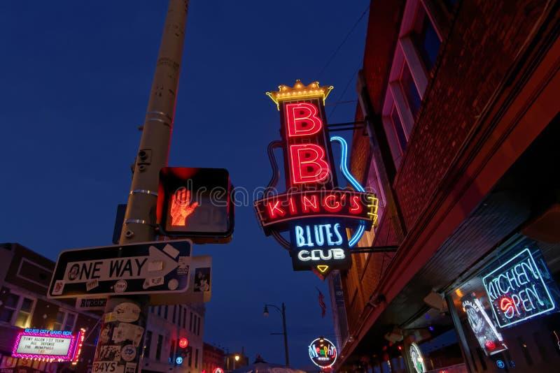 Rua de Beale em Memphis, Tennessee fotos de stock royalty free