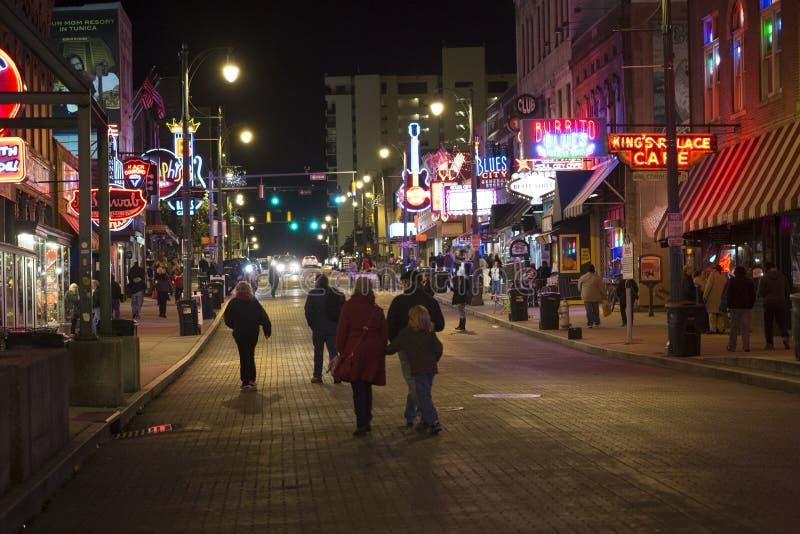 Rua de Beale, Memphis Tennessee imagem de stock