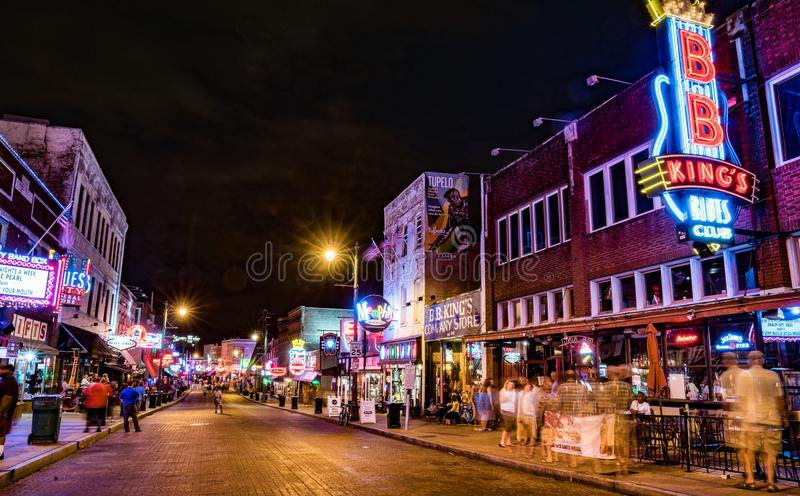 Rua de Beale, Memphis, TN fotos de stock royalty free