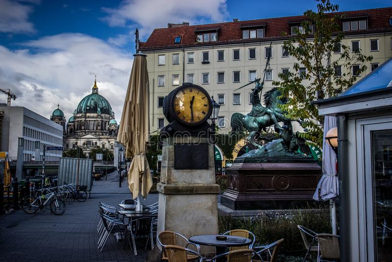 Rua de Berlim fotos de stock royalty free