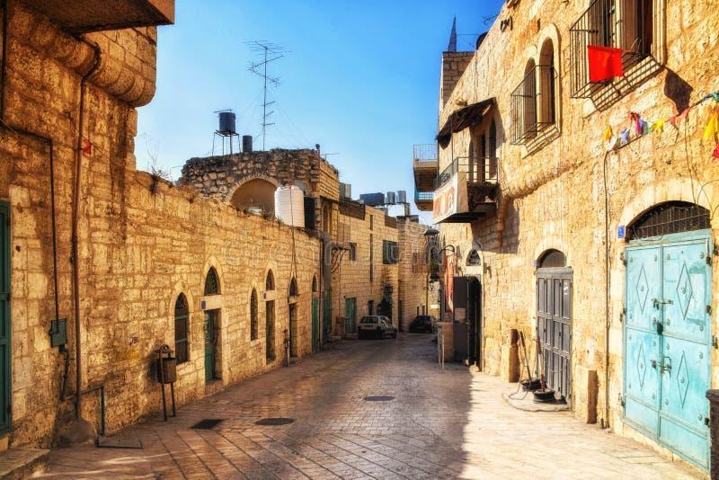A rua de Bethlehem fotografia de stock royalty free