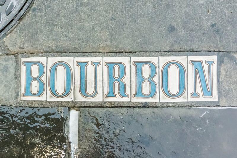 Rua de Bourbon no passeio foto de stock