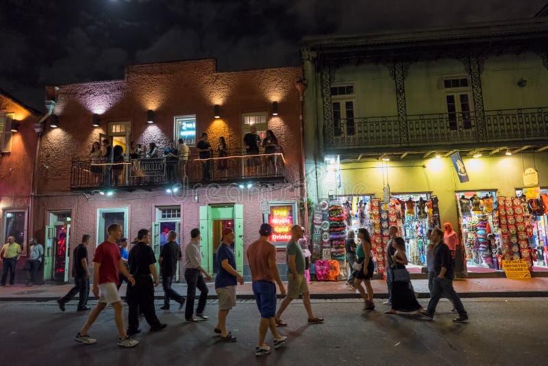 Rua de Bourbon, Nova Orleães foto de stock