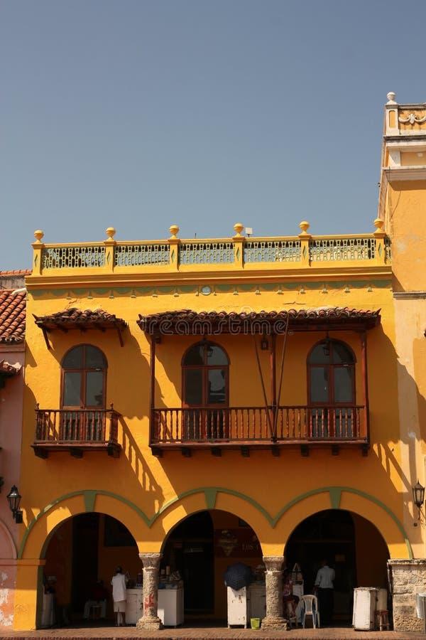 Rua de Cartagena de Indias, Colômbia fotos de stock royalty free
