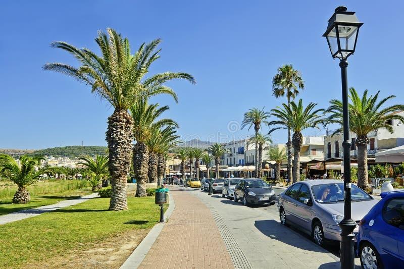 Download A Rua De Chania, Crete, Greece Imagem de Stock - Imagem de architectural, lamppost: 29837415
