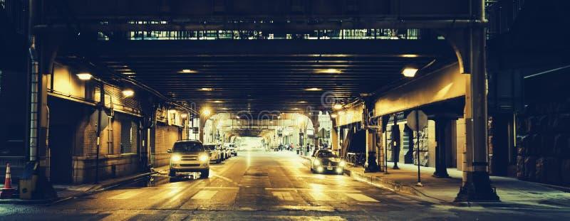 Rua de Chicago, EUA fotos de stock