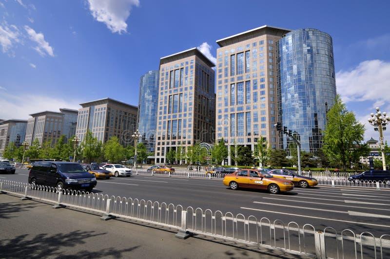 Rua de China Beijing ChangAn foto de stock