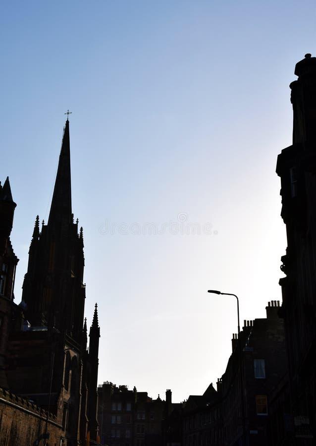 Rua de Edimburgo - Johnston Terrace fotos de stock