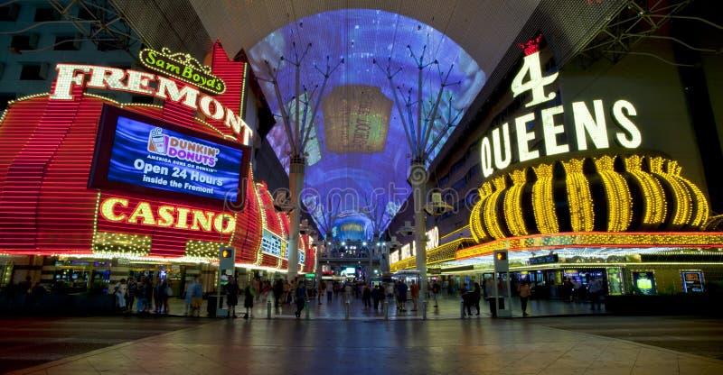 Rua de Fremont - Las Vegas, Nevada fotos de stock