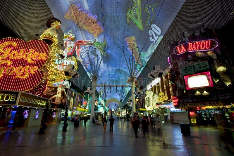 Rua de Fremont - Las Vegas, Nevada fotos de stock royalty free