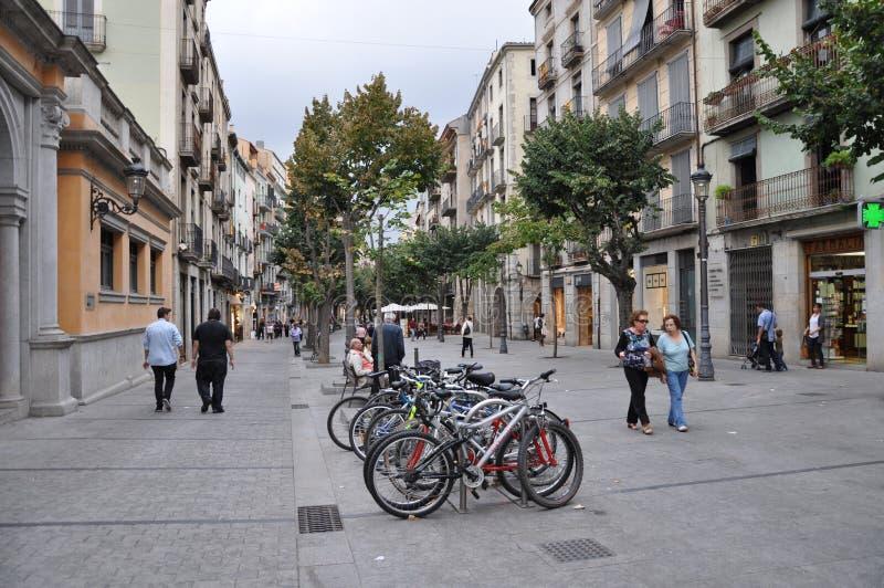 A rua de Girona imagens de stock