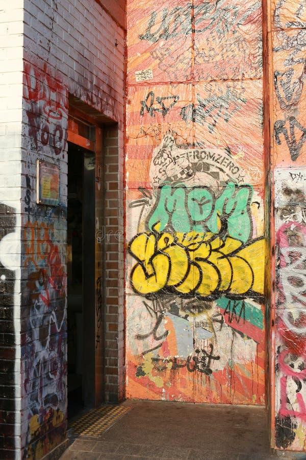 Rua 014 de Graffity fotografia de stock royalty free