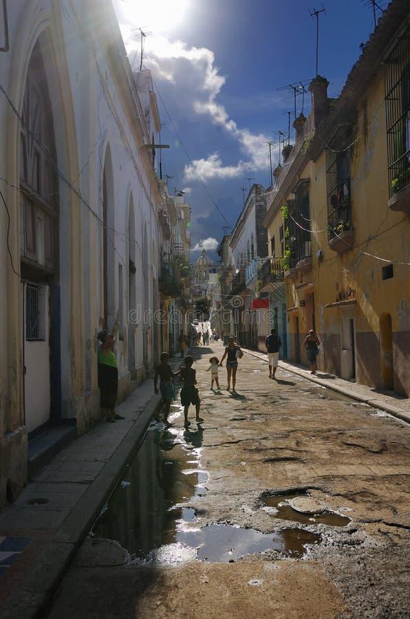 Rua de Havana, Cuba. Outubro 2008 fotos de stock royalty free