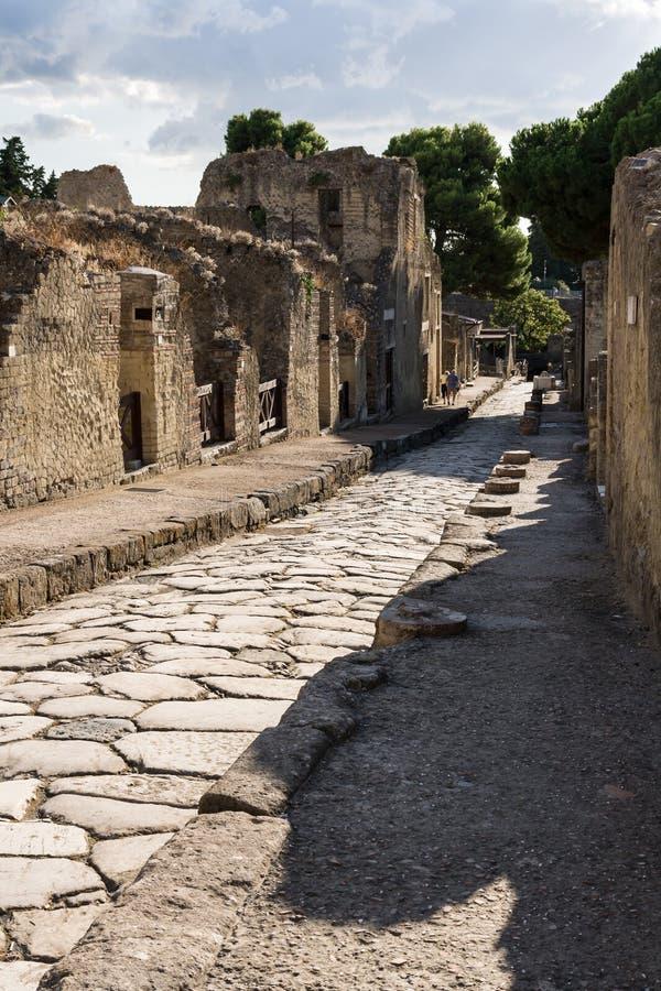 Rua de Herculaneum imagens de stock royalty free