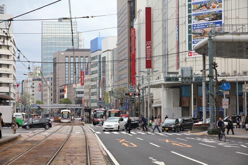 Rua de Hiroshima foto de stock