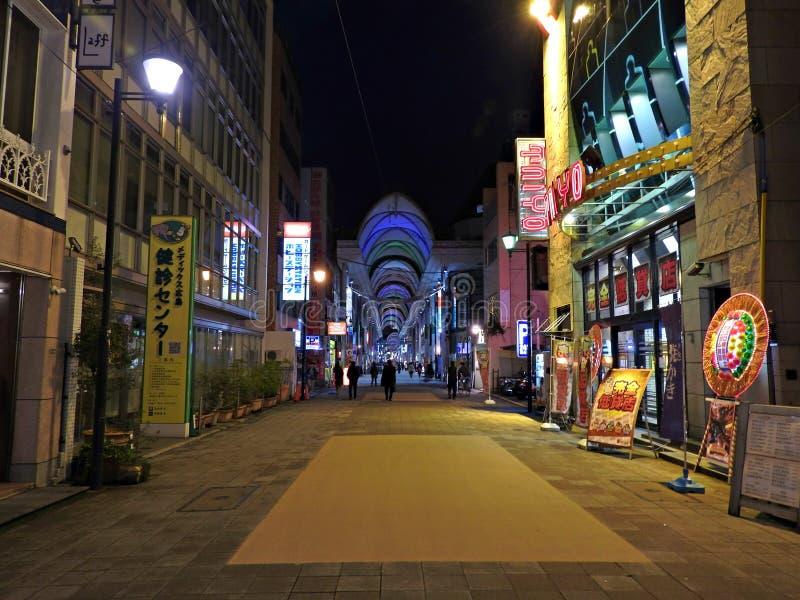 Rua de Hondori, Hiroshima, Japão fotografia de stock