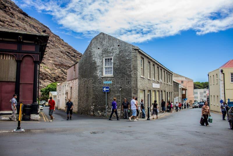 A rua de Jamestown fotos de stock